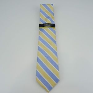 Club Room Perfect Stripe Neck Tie 100% Silk NWT